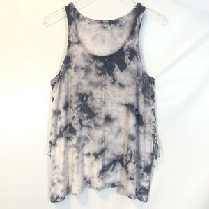 AE Soft & Sexy Tie Dye Lace Up Tank